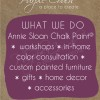 August Annie Sloan Workshops posted for Washington DC & Maryland