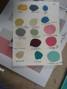 color mixing in chalk paint workshop