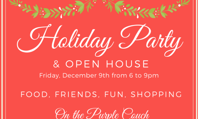 holiday party at on the Purple Couch