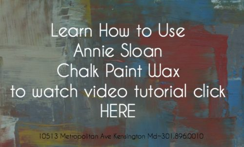 Annie Sloan Clear Wax tutorial