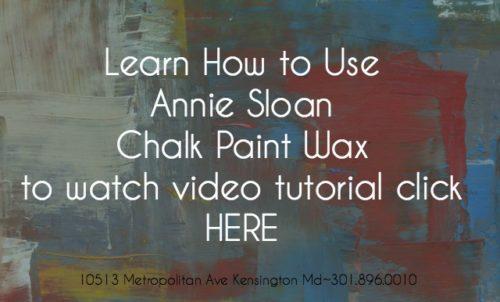 Annie Sloan Clear Wax tutorial